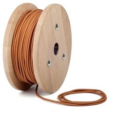 Whiskey brown braided cable | Round Lighting Flex - Cablelovers