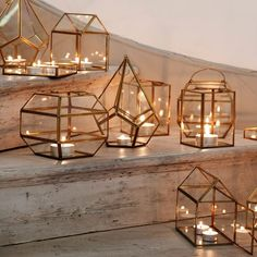 brass tea light holders and lanterns