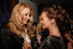 Blake Lively and Leighton Meester / Gossip Girl's partners Gossip Girls, Gossip Girl Serena, Serena And Blair, Blake Lively Family, Lets Get Weird, Leighton Meester, Celebs, Celebrities, Great Hair