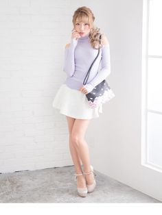 dreamv | Rakuten Global Market: I prepare size / white pink black black and white /M L LL 3L/ which a lining thick legendary man with long legs effect accent has a big in a tweed fastener rear rubber high waist knee in skirt pearl zip tweed circular miniskirt petticoat Bakery spring! D