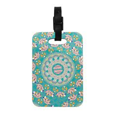 "Miranda Mol ""Luscious"" Blue Pink Decorative Luggage Tag from KESS InHouse"