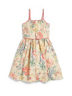 Ralph Lauren Toddler's & Little Girl's Floral Sundress Little Girl Outfits, Little Girl Fashion, Toddler Fashion, Kids Outfits, Kids Fashion, Baby Girl Dresses, Baby Dress, Cute Dresses, Moda Kids