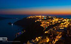 Santorini Greece Oia Sunset by tomsjogren. Please Like http://fb.me/go4photos and Follow @go4fotos Thank You. :-)