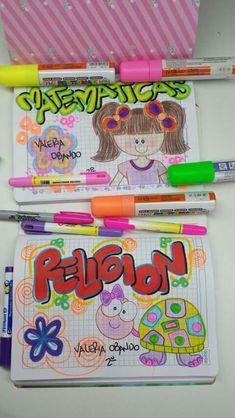 Marcacion de  cuadernos Happy Planner, Notebook, Clip Art, Study, Lettering, Diy, Amor, Cute Notebooks, School Notebooks