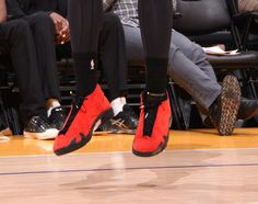 090625b60af Houston Rockets forward Terrence Jones wore a pair of Air Jordan retro XIV ' Ferraris' in a game against the Los Angeles Lakers.