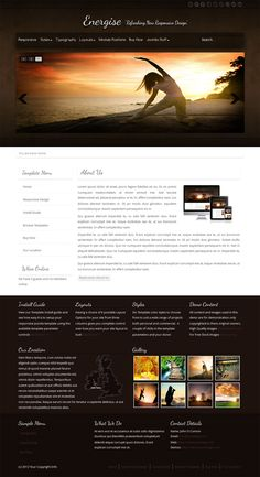 """New #Joomla template - """"Energise"""" with rich graphics and clean #layout for all devices. #Responsive Joomla Design."""