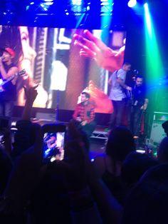 Beau James and Luke onstage <3