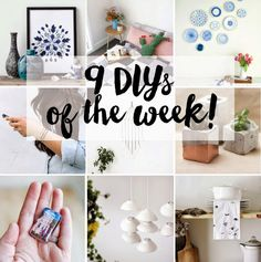 Poppytalk: 9 DIYs of the Week!