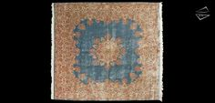 Persian Kerman Square Oversize Carpet 11′ 9″ X 12′ 9″