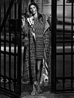 Gisele Bündchen w kampanii Chanel wiosna-lato fot. Chanel 2015, Gisele Bundchen, Karl Lagerfeld, Chanel Spring, Spring Summer 2015, Maine, Kimono Top, Collection, Coat
