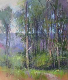 The Mystery of Trees by Richard McKinley Pastel ~ 12 x 10