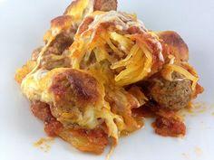 Low Carb Spaghetti Squash Lasagna - See more delicious low carb dessert recipes at All-Desserts.com!