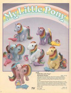 My Little Pony Rainbow Ponies advertisement ...