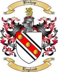 Bishop Family Coat of Arms from England