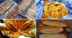 Domáce pečivo je vždy najlepšie. Pokiaľ si ho upečiete v pohodlí domova, máte vždy istotu a prehľad v použitých surovinách. Vďaka týmto receptom si už rožky nemusíte kupovať. Hot Dog Buns, Hot Dogs, Herbs, Bread, Baking, Pizza, Food, Basket, Lasagne