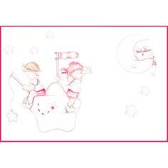 Decoración infantil Il Mondo di Alex, Papel mural efecto pintado a mano, PIRATAS ROJOS... personalizado con nombre o frase y a medida.
