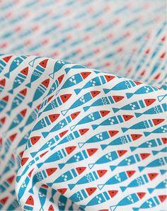 Aringa mini cotone tessuto - blu - dal cantiere 52322