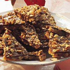 Pecan Toffee - MY FAVORITE... very easy and quick. That's why it's my favorite, besides being addictive.