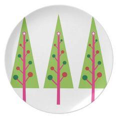 Christmas Trees Dinner Plates #Christmas #Tree #Plate #Dish