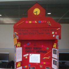 School House tri-fold board.