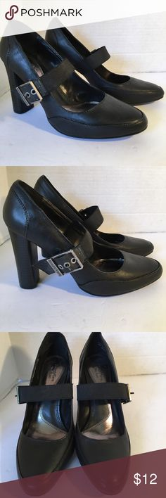 "Stunning Simply Vera Wang Leather Heels Stunning leather heels with buckle closure. Pointed rounded toe and wood heel. In excellent condition and soles excellent condition. 3"" heels IF YOU PURCHASE MORE THEN 1 ITEM, YOU CAN ONLY BUNDLE UP TO 3 ITEMS PER ORDER. OR YOUR ORDER WILL BE CANCELED Simply Vera Vera Wang Shoes Heels"