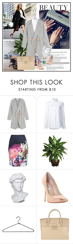 """""""Nine to Five."""" by killerqueen188 ❤ liked on Polyvore featuring By Terry, Vanessa Bruno, Misha Nonoo, Ted Baker, Nearly Natural, Eichholtz, Dune, PERIGOT and Furla"""