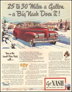 This is social because it's an ad on what kind of cars they drove during the time period