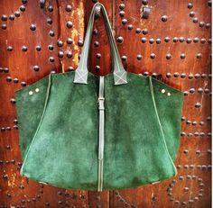 Revolutionary Suede Bag, Italian For Italy