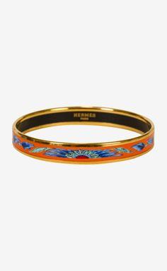 Hermès Orange/Blue/Gold Bracelet