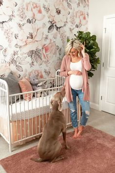 Loverly Grey Baby - Pépinière Reveal - Loverly Grey - Miss Luna Leone - Grossesse Baby Bedroom, Nursery Room, Girl Nursery, Girl Room, Nursery Ideas, Baby Nursery Grey, Peach Nursery, Bedroom Kids, Baby Rooms