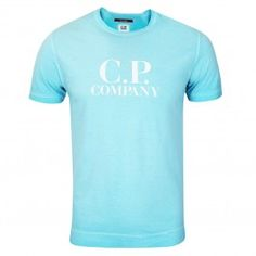 Crew neck short sleeve cotton jersey t-shirt with large C. Company label branding across chest. Work Suits, Print Logo, Spring Summer 2018, Sportswear Brand, Light Blue, Printed, Mens Tops, T Shirt, Jackets