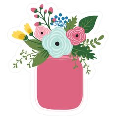 Silhouette Design Store - View Design #263011: flower jar