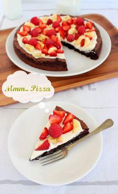 Suklaapandan keittiössä: Brownie pizza