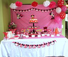 Minnie Mouse Candy Buffet table