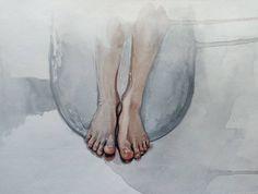 Bath time 🛁 Watercolor painting sketch Bath Time, Watercolor Paintings, Sketch, Watercolor, Sketch Drawing, Water Colors, Sketches, Watercolour Paintings, Tekenen