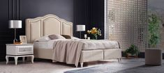 Caracole Sleigh Me Down Modern Classic Silver Mahogany Sleigh Bed - Queen Platform Bed Mattress, Platform Bed Frame, Upholstered Platform Bed, Silver Bedding, Sleigh Beds, Bedding Sets Online, Panel Bed, Bedroom Sets, Bedrooms