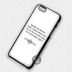 Funny Quotes Supernatural - iPhone 7 Plus 6 5 4 Cases & Covers