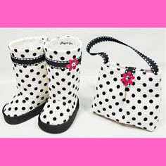 American Girl 18 Dolls Purse and Boots Set White by MegOrisDolls