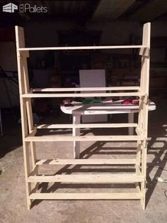 Pallet Bookcase: I made this bookcase for my office from recycled wood pallet planks. 1001 Pallets, Recycled Pallets, Recycled Wood, Wooden Pallets, Diy Pallet Furniture, Diy Pallet Projects, Woodworking Projects, Pallet Ideas, Woodworking Images
