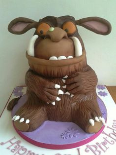 I keep getting orders for him now but they all turn out slightly different :) this one is my favourite hehe, He was rather large, around tall! Chocolate cake…also my favourite x Fancy Cakes, Cute Cakes, Fondant Cakes, Cupcake Cakes, Realistic Cakes, 3rd Birthday Cakes, Sculpted Cakes, Character Cakes, Specialty Cakes