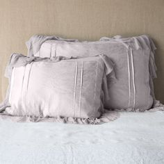 A couture collection of silk charmeuse trimmed in translucent silk gauze Lumbar Throw Pillow, Pillow Shams, Bed Pillows, Cushions, Velvet Bed, Cotton Velvet, Color Powder, Queen, Fabric Swatches