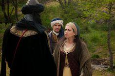 Isabel TV Series. Aixa (Alicia Borrachero) y Boabdil (Álex Martínez)