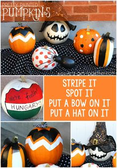 Pretty Painted Pumpkins from Let's Get Together - 6 great tips for easy, #pumpkin decorating. Perfect for inexpensive decorating and a cohesive front porch look. #easy #halloween
