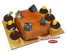 Handy man cake and cupcakes