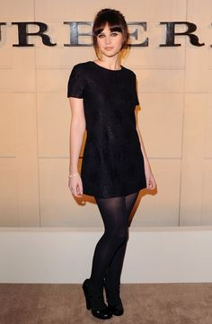 Pin for Later: Felicity Jones Is Never Going to Run Out of Beautiful Dresses At the Burberry Body Launch Party in October 2011 Wearing Burberry.