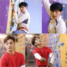 """The Great Seducer"" Woo Do-hwan and Kim Min-jae Look Sexy in Climbing Gear"