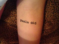 Psalm 46:5 God is within her, she will not fall
