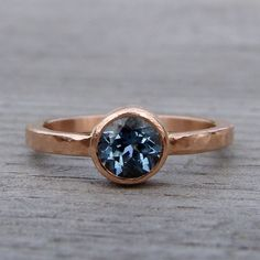Never would have guessed that blue sapphire and rose gold would pair so well... a lovely surprise!