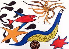 Alexander Calder, Sea Creatures #gallartcom