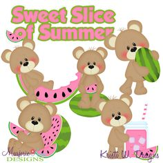 Patches The Bear Sweet Slice Of Summer SVG-MTC-PNG plus JPG Cut Out Sheet(s) Our sets also include clipart in these formats: PNG & JPG